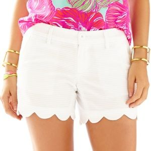 Lilly Pulitzer The Buttercup Scalloped Shorts